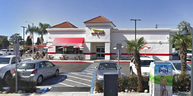 An In-N-Out burger restaurant in Downey, Calif. Cal Fire is suing the chain over a 2017 grass fire on its property that burned 245 acres.