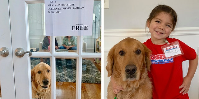 The Gonzalez's 4-year-old daughter, Madison, with their 5-year-old golden retriever, Sam. (Photo: Courtesy of Josie Gonzalez)