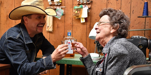 John Rich with Granny Rich.