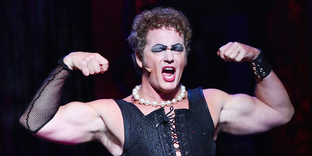 """Craig McLachlan plays the role of Frank N Furter during a media call for """"The Rocky Horror Show"""" on April 15, 2015 in Sydney, Australia."""