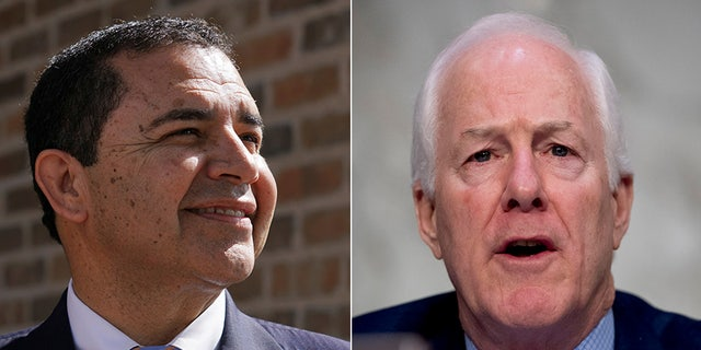 Rep. Henry Cuellar, D-Texas, and Sen. John Cornyn, R-Texas, have promised more than $183,000 in federal funding to help the Texas victims of the bloody massacre at First Baptist Church in Sutherland Springs in 2017, according to a report. (Reuters / AP)