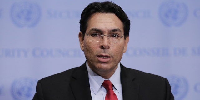 Danny Danon, Israel's ambassador to the U.N., attacked the decision of the European Court of Justice to require separate labeling of Israeli products made in Judea, Samaria and Golan Heights.