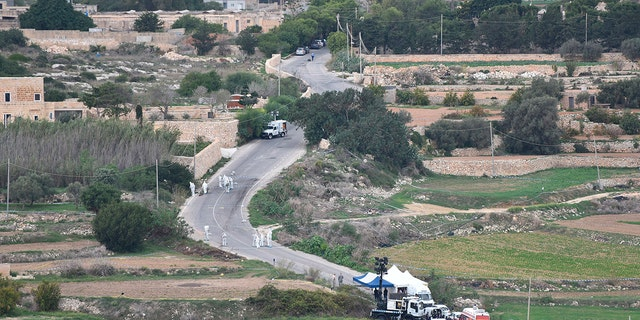 Caruana Galizia was killed in a car bomb near her home in Bidnija on Oct. 16, 2017. (AP Photo/Rene Rossignaud, File)