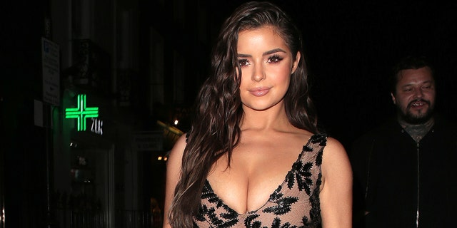 Demi Rose celebrates her birthday with friends at The Box in Soho, after dinner at Ciro's Pizza Pomodoro on March 27, 2019 in London, England. (Photo by Ricky Vigil/GC Images)