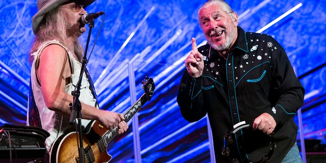 Chris Hicks, left, and Doug Gray of the Marshall Tucker Band perform live in concert at Sony Hall on Aug. 23, 2019 in New York City.