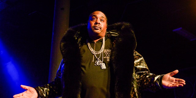 Eric B of Eric B and Rakim performs on stage at Roseland as part of the Soul'd Out Music Festival in Portland, Oregon on April 17, 2019.
