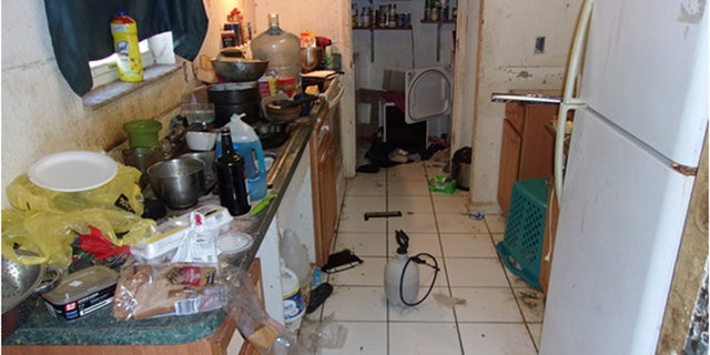 Officials said there was no edible food found in the home's refrigerator.
