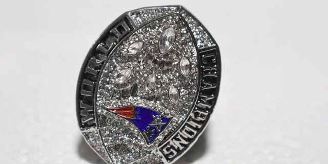 Nine of the 11 counterfeit championship rings were for the New England Patriots. (Customs and Border Protection)