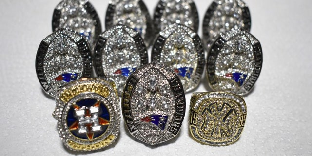Philadelphia Customs and Border Protection officers seized 11 fake sports championship rings earlier this month. (Customs and Border Protection)