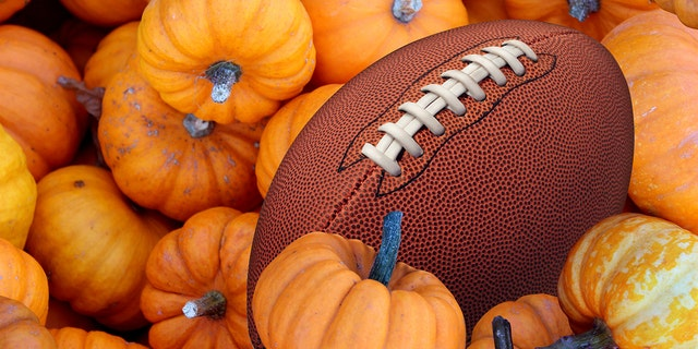 It's a wonder we don't include footballs in our Thanksgiving centerpieces.