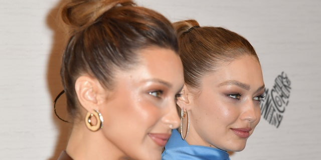 Gigi and Bella Hadid attend an event in New York City, April 2019.