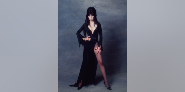 Cassandra Peterson as Elvira poses for a portrait in October 1983 in Los Angeles, California.