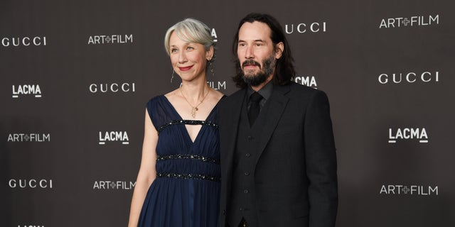 Alexandra Grant and Keanu Reeves have been friends and collaborators years, according to People magazine. (Photo by Michael Kovac/Getty Images for LACMA)