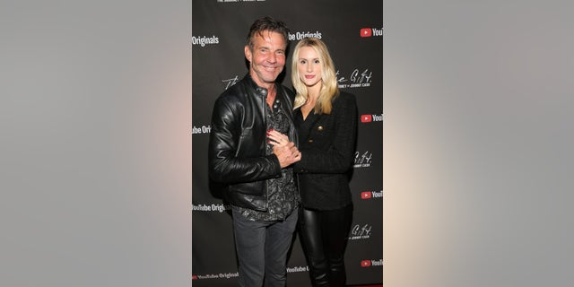 Dennis Quaid and Laura Savoie attend CASH FEST In Celebration Of YouTube Originals Documentary 'THE GIFT: THE JOURNEY OF JOHNNY CASH' at War Memorial Auditorium on November 10, 2019, in Nashville, Tenn.
