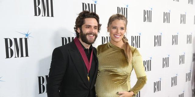 NASHVILLE, TENNESSEE - NOVEMBER 12: Thomas Rhett and Lauren Akins attend the 67th Annual BMI Awards at BMI on November 12, 2019 in Nashville, Tennessee. (Photo by Terry Wyatt/WireImage,)