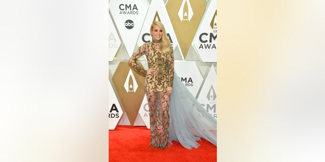 Carrie Underwood at the CMA Awards. (Photo by John Shearer/WireImage,)