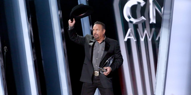 Garth Brooks accepts an award onstage during the 53rd annual CMA Awards at the Bridgestone Arena on November 13, 2019, in Nashville, Tennessee.