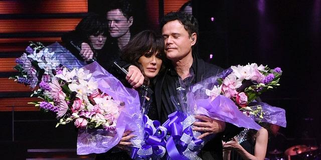 Donny & Marie Osmond during their final performance at Flamingo Las Vegas on November 16, 2019 in Las Vegas, Nevada.