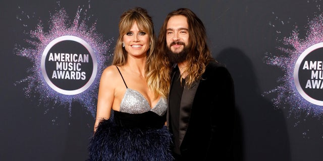 Heidi Klum and Tom Kaulitz attend the 2019 American Music Awards at Microsoft Theater on November 24, 2019 in Los Angeles, Calif.