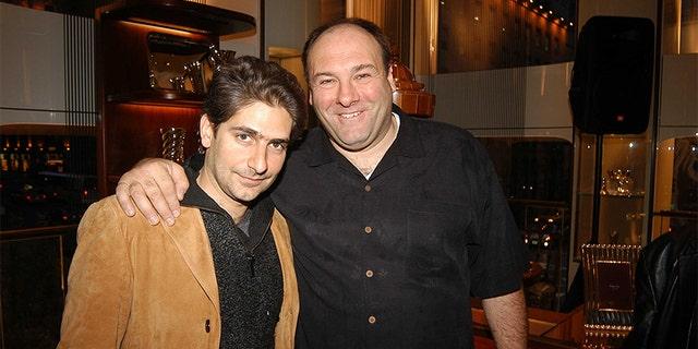 Michael Imperioli and James Gandolfini attend Asprey and Michael Imperioli Invite You To A Reading Of Studio Dante's Henry Flamethrowa at Asprey on April 28, 2005, in New York City.