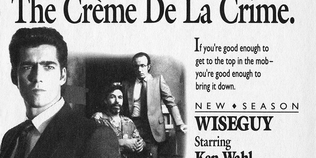 CBS Television advertisement as appeared in the September 30, 1989 issue of TV Guide magazine. An ad for the Wednesday night drama, Wiseguy, (starring Ken Wahl as Vinnie Terranova).