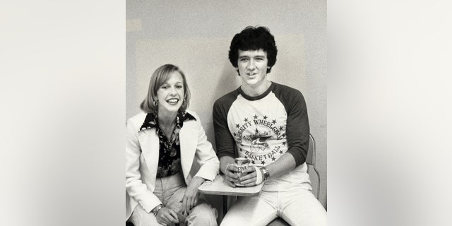 Patrick Duffy and Carlyn Rosser attending in May 1977 at California State University in Northridge, California.