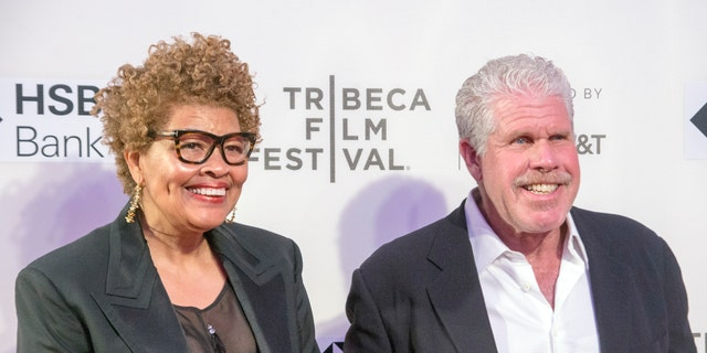 Opal Stone and Ron Perlman attend premiere of Disobedience during 2018 Tribeca Film Festival at BMCC.