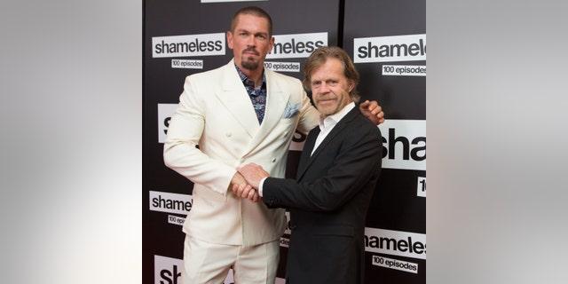 "Steve Howey, left, and William H. Macy arrive for Showtime's ""Shameless"" 100 Episode Celebration at DREAM Hollywood on June 9, 2018 in Hollywood, Calif. (Photo by Gabriel Olsen/FilmMagic)"