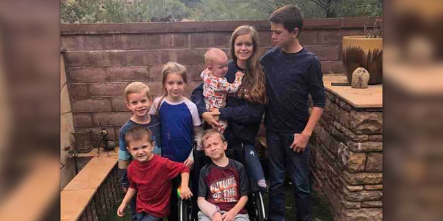 The siblings – still recovering from injuries and mourning the murder of their mother, Dawna Ray Langford, and brothers Trevor Langford and Rogan – were featured smiling alongside Cody Langford, who remains in a wheelchair.