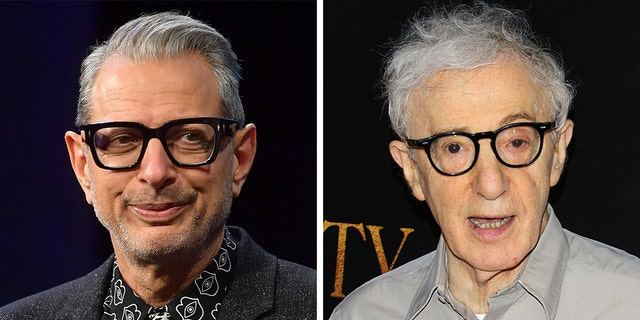 Jeff Goldblum, left, spoke out about allegations against filmmaker Woody Allen.