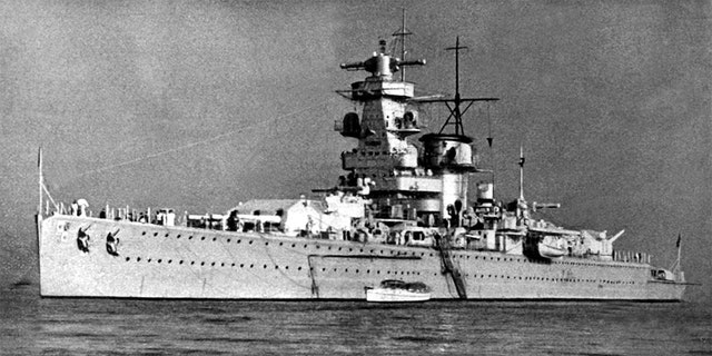 """The badly damaged Graf Spee had limped into the Montevideo harbor in Uruguay after a fierce battle with three British warships in the River Plate, which narrowly divides Uruguay and Argentina.<br data-cke-eol=""""1"""">"""