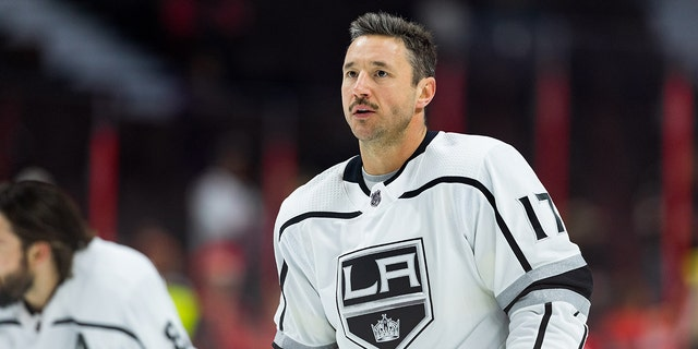 Los Angeles Kings Left Wing Ilya Kovalchuk (17) during warm-up before NHL action between the Los Angeles Kings and Ottawa Senators on November 7, 2019, at Canadian Tire Centre in Ottawa, ON, Canada.