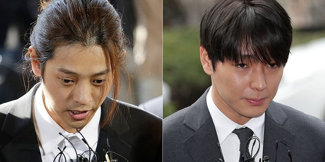 K-pop stars Jung Joon-young, 30, and Choi Jong-hoon, 29,聽were found guilty of rape and sentenced to six and five years in prison.