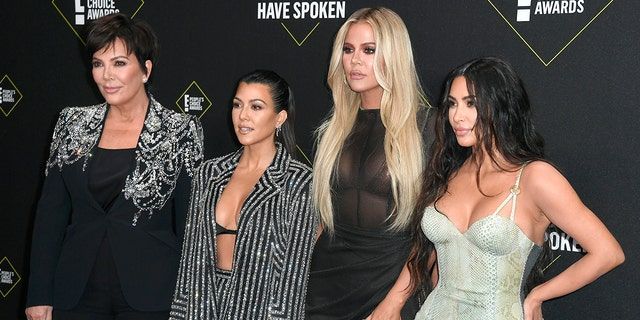 From left: Kris Jenner, Kourtney Kardashian, Khloe Kardashian, and Kim Kardashian West. (Photo by Frazer Harrison/Getty Images)