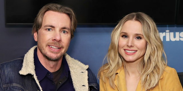 Dax Shepard and Kristen Bell visit the SiriusXM Studios on February 25, 2019, in New York City.