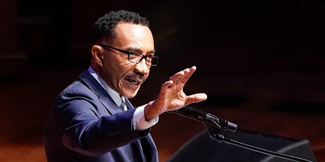 Former U.S. Rep. Kweisi Mfume (D-MD) speaks during funeral services for late U.S. Representative Elijah Cummings at the New Psalmist Baptist Church in Baltimore, Maryland, U.S., October 25, 2019. Mfume announced Monday he would seek Cummings' seat in a special election.