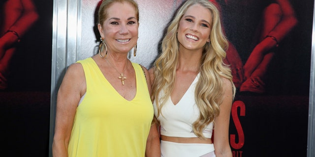"Kathie Lee Gifford, left, and Cassidy Gifford arrive at the LA Premiere of ""The Gallows"" at Hollywood High School on Tuesday, July 7, 2015, in Los Angeles."