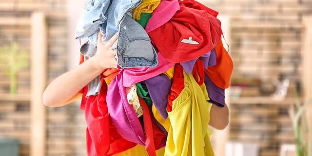 If we ever need something artistic to do with your unwashed clothes, one mom has a ideal thought for a holidays. (Photo: iStock)