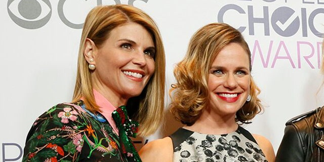 Actresses Lori Laughlin, left, and Andrea Barber, at the People's Choice Awards 2017 in Los Angeles.