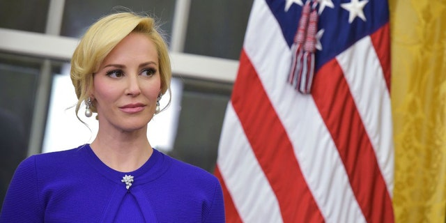 "Linton, seen here at the swearing-in of husband Steven Mnuchin as the secretary of the treasury, had previously said she was ""very upset"" by the administration's efforts to rewrite federal rules on big-game hunting."