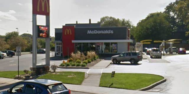 Roberts was picked up a short distance away from the McDonald's, police said.