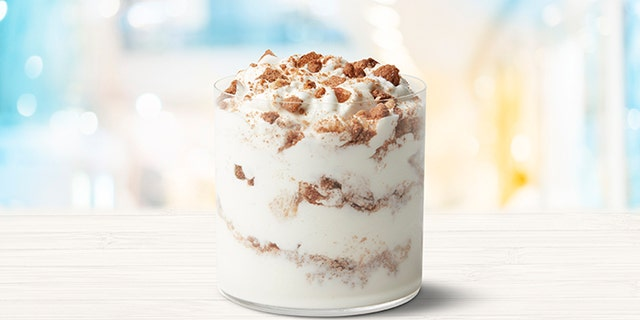 Mickey D's announced it is keeping dessert menus delightful as the weather gets frightful in the weeks ahead with the addition of the new Snickerdoodle McFlurry, pictured.