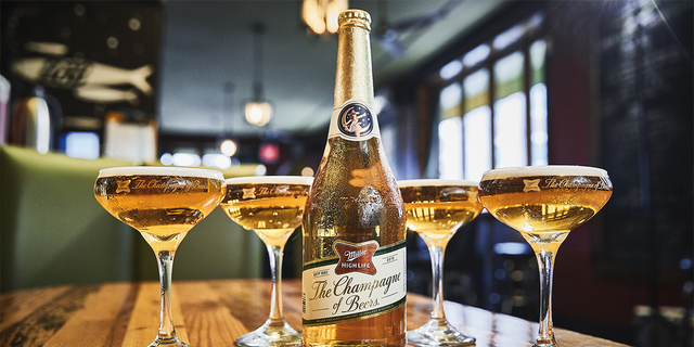 """For the <a data-cke-saved-href=""""https://www.foxnews.com/food-drink/the-champagne-of-beers-is-getting-a-festive-makeover-for-the-holidays"""" href=""""https://www.foxnews.com/food-drink/the-champagne-of-beers-is-getting-a-festive-makeover-for-the-holidays"""" target=""""_blank"""">second year in a row</a>, Miller High Life is offering its<a data-cke-saved-href=""""https://www.foxnews.com/category/food-drink/drinks/beer"""" href=""""https://www.foxnews.com/category/food-drink/drinks/beer"""" target=""""_blank"""">beer</a> inChampagne-sized 75-milliliter bottles ahead of New Year's Day."""