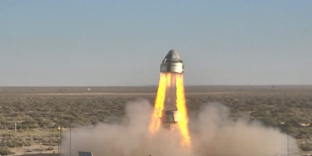 Boeing's CST-100 Starliner in the Pad Abort Test,