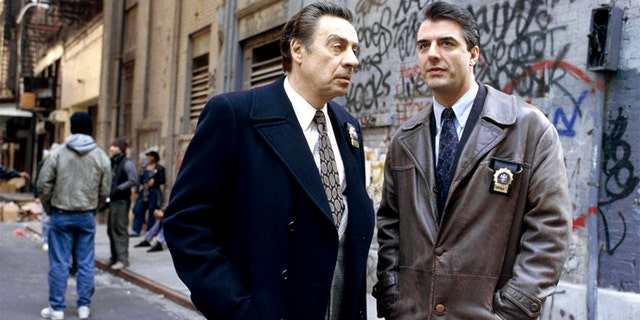 "Chris Noth (right) and Jerry Orbach during their ""Law & Order"" days."