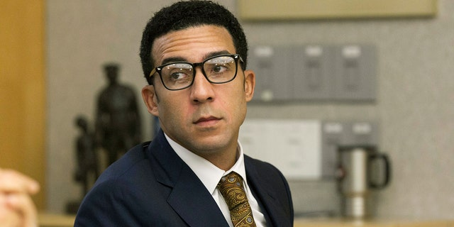 Former NFL football player Kellen Winslow Jr. attends a preliminary court hearing in San Diego, Calif., July 11, 2018. (Associated Press)