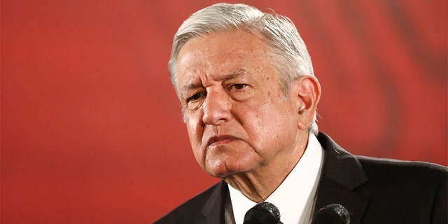 Mexico's President Andres Manuel Lopez Obrador looks on during a news conference at the National Palace in Mexico City, Mexico, Nov. 13, 2019. (Reuters)