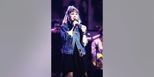 Debbie Gibson at the 40th Anniversary Tribute to Atlantic Records at Madison Square Gardens in New York City on 5/14/88 in New York City.