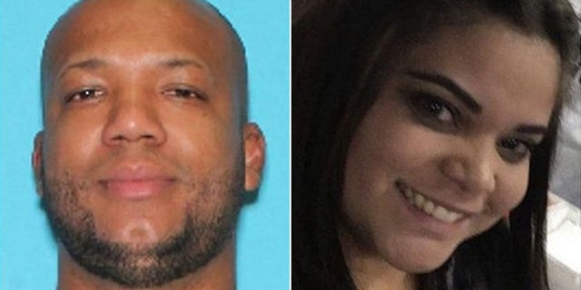 Alfredo Esmerli Peguero-Gomez, whose car was found at Newark Liberty International Airport in New Jersey Friday, is being sought in the death of Janet Avalo-Alvarez.