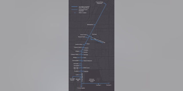 Possible expansion routes at the Las Vegas Convention Center and Visitors Authority.